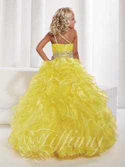 Style 13329 Tiffany Princess Yellow Size 00 Ball gown on Queenly