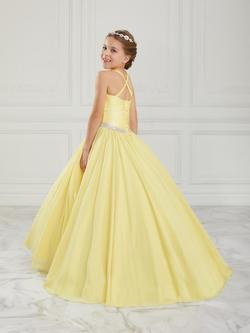 Style 13617 Tiffany Princess Yellow Size 00 Silk Ball gown on Queenly