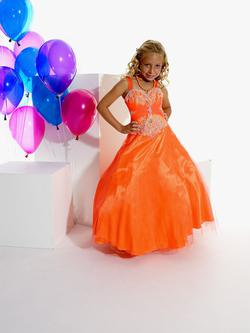 Style 13266 Tiffany Princess Orange Size 00 Ball gown on Queenly
