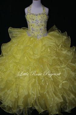 Style LR2003 Little Rosie Yellow Size 00 Ball gown on Queenly