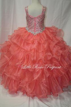 Style LR2008 Little Rosie Orange Size 00 Coral Ball gown on Queenly