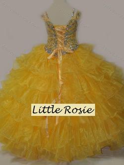 Style LR2117 Little Rosie Yellow Size 00 Pageant Ball gown on Queenly