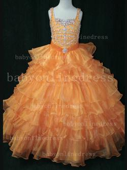 Style LR852 Little Rosie Orange Size 00 Pageant Ball gown on Queenly