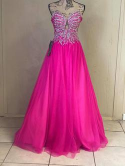 Terani Couture Hot Pink Size 0 Jewelled Sequin Sweetheart Ball gown on Queenly