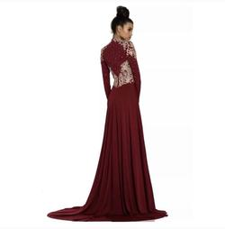 Johnathan Kayne Red Size 10 Pageant Train Dress on Queenly