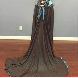 Johnathan Kayne Blue Size 6 Corset Custom Jumpsuit Dress on Queenly