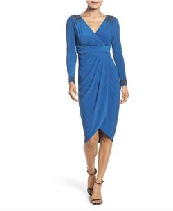 Adrianna Papell Blue Size 4 Wedding Guest Cocktail Dress on Queenly