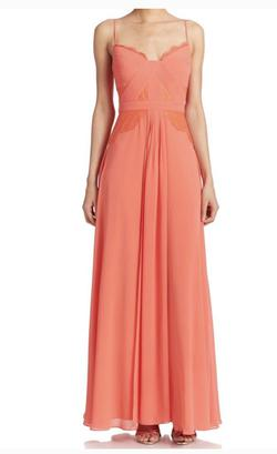 BCBG Max Azria Pink Size 4 Bridesmaid Coral A-line Dress on Queenly