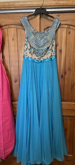 Sherri Hill Blue Size 14 Pageant A-line Dress on Queenly