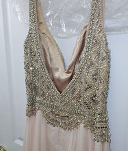 Mac Duggal Nude Size 12 Overskirt A-line Dress on Queenly