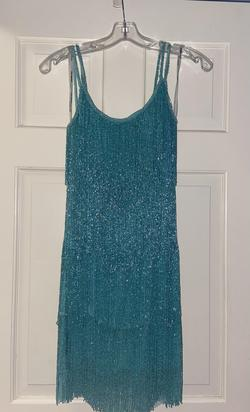 Sherri Hill Blue Size 4 Nightclub Cocktail Dress on Queenly