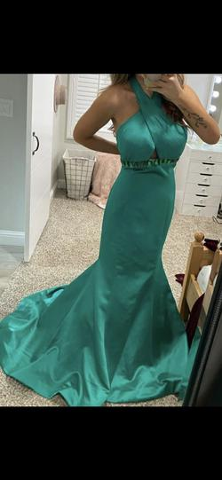 Sherri Hill Green Size 14 Pageant Mermaid Dress on Queenly