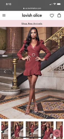 Lavish Alice Red Size 6 Sorority Formal Blazer Wedding Guest Cocktail Dress on Queenly