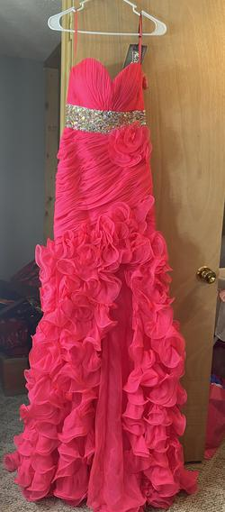 Mac Duggal Pink Size 4 Sweetheart Train Side slit Dress on Queenly