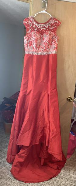 Red Size 6 Train Dress on Queenly