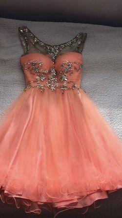 Alyce Paris Orange Size 2 Sequin Ball gown on Queenly