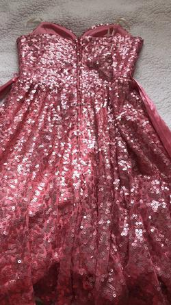 Way in Hot Pink Size 2 Sequin A-line Dress on Queenly