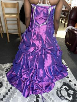 Tony Bowls Purple Size 12 Strapless Train Dress on Queenly