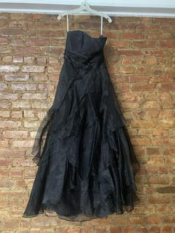 David's Bridal Black Size 6 Ball gown on Queenly
