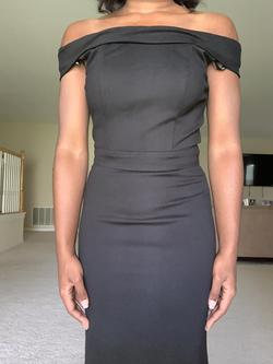 Sherri Hill Black Size 2 Jersey Fitted Mermaid Dress on Queenly