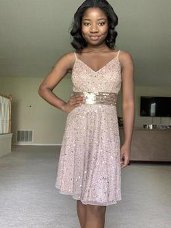 Ashley Lauren Gold Size 2 Jewelled Cocktail Dress on Queenly