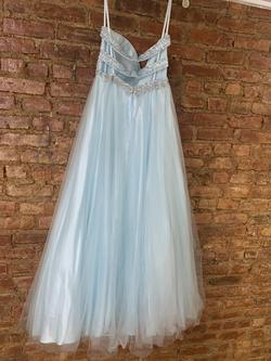 Cecily Brown Blue Size 6 Sequin Ball gown on Queenly