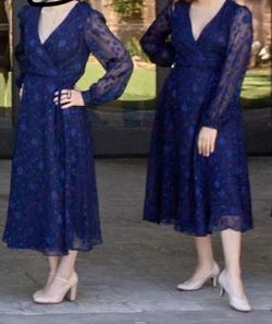 Lulu Blue Size 6 Bridesmaid Wedding Guest A-line Dress on Queenly