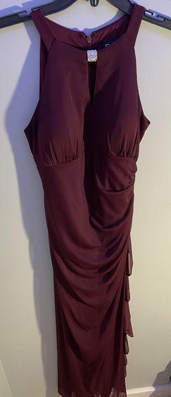 Betsy & Adam Purple Size 8 Bridesmaid Halter Straight Dress on Queenly
