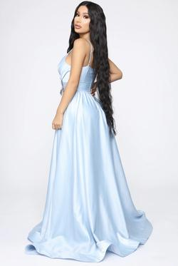 Fashion Nova Light Blue Size 2 Ball gown on Queenly