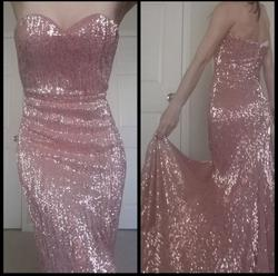Portia & Scarlett Pink Size 2 Wedding Guest Mermaid Train Dress on Queenly