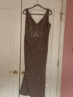 Mon Cheri Gold Size 12 Plus Size Wedding Guest Ball gown on Queenly