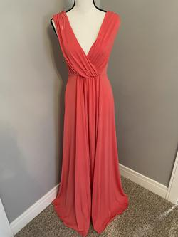 Unknown Red Size 2 Plunge Wedding Guest A-line Dress on Queenly