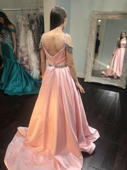 Style 51613 Sherri Hill Pink Size 00 Prom Train Ball gown on Queenly