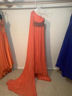 Orange Size 0 Train Dress on Queenly