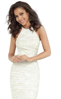 Jovani White Size 0 Prom Sorority Formal Jovanni Straight Dress on Queenly