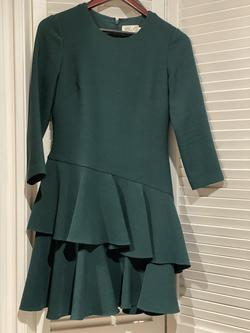 Eliza J Green Size 4 Long Sleeve Wedding Guest Short Height Cocktail Dress on Queenly
