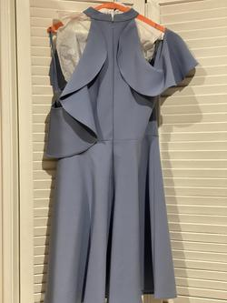Likely Blue Size 4 Flare Sorority Formal Wedding Guest Cocktail Dress on Queenly