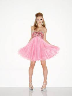 Style L900 Riva Designs L900 Pink Size 0 Mini Cocktail Dress on Queenly