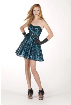 Style 35489 Alyce B'dazzle Multicolor Size 0 Strapless Cocktail Dress on Queenly