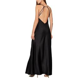 BCBG Black Size 2 Backless Wedding Guest Sorority Formal Straight Dress on Queenly