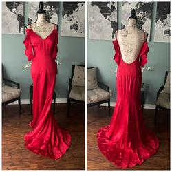 Jovani Red Size 4 Party Pageant Straight Dress on Queenly