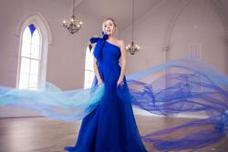 Ramaa Haute Couture Royal Blue Size 4 Pageant A-line Dress on Queenly