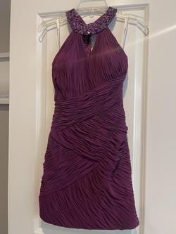Priscilla Collection Purple Size 6 Nightclub Sequin Cocktail Dress on Queenly
