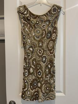 Sherri Hill Gold Size 2 Wedding Guest Mini A-line Dress on Queenly