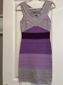 Bebe Light Purple Size 4 Nightclub Lavender Cocktail Dress on Queenly