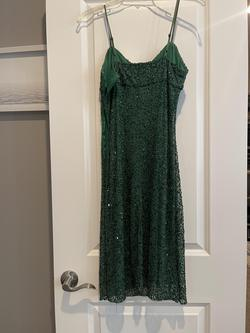 Betsy Johnson Green Size 6 Jewelled A-line Dress on Queenly
