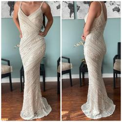 Jovani White Size 0 Wedding Lace Pageant Straight Dress on Queenly