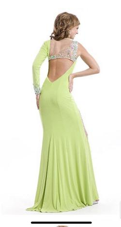 Style 6518 Party Time Formal Green Size 0 Pageant Prom Lime Jewelled Straight Dress on Queenly