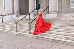 Style 51578 Sherri Hill Red Size 2 Pageant Ball gown on Queenly