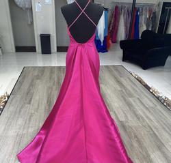 Terani Couture Hot Pink Size 2 Train Pageant A-line Dress on Queenly